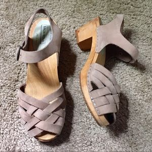Taupe Moheda Betty Swedish Clog Sandals 39